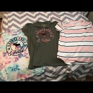 3 short sleeve shirts , kid's Abercrombie. 9/10
